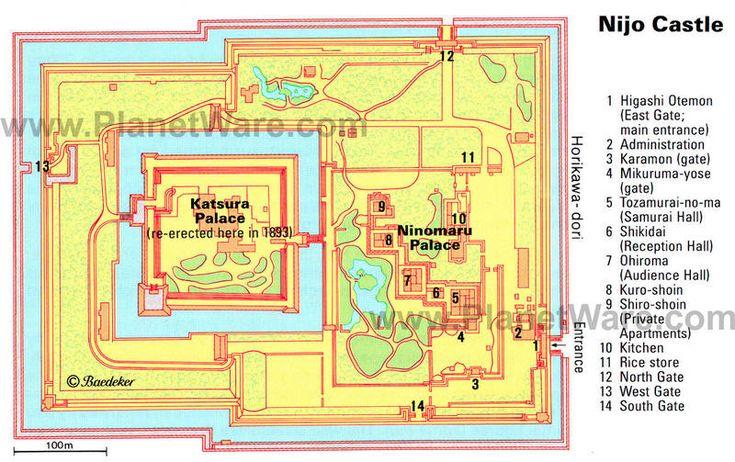 mapa nijo castle kyoto