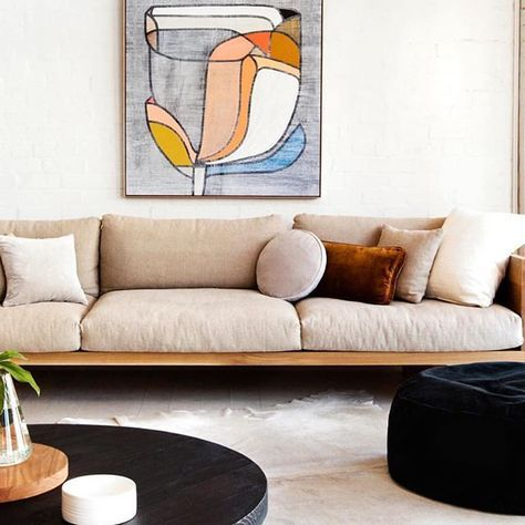 living room perfection via @rachelcastleandthings love the new huge velvet floor cushion and that @mark_tuckey lounge