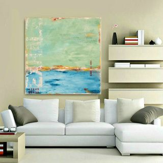 """Sitting on the Bay"" - coastal abstract art by Sabina D'Antonio"