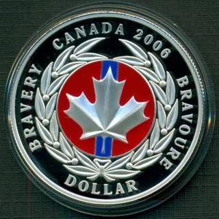 2006 Dollar en Argent Médaille de la Bravoure Émaillé Épreuve Numismatique
