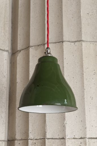 Small green enamel shade - Retrouvius Reclamation and Design