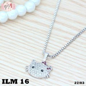 Kalung Perak Hello Kitty Silver Permata Zircon Xuping LM16