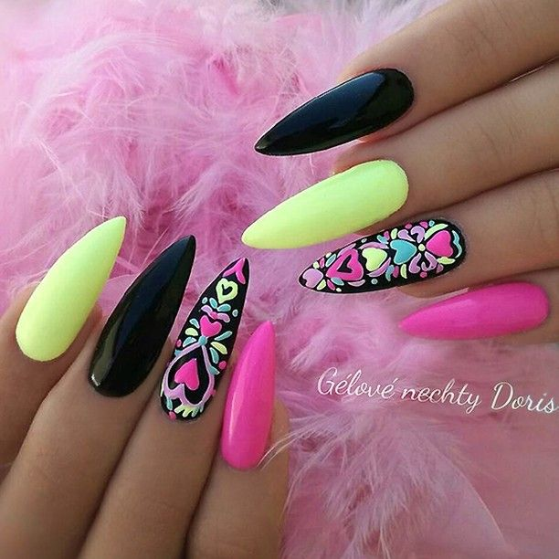 Gorgeous colours and nail art
