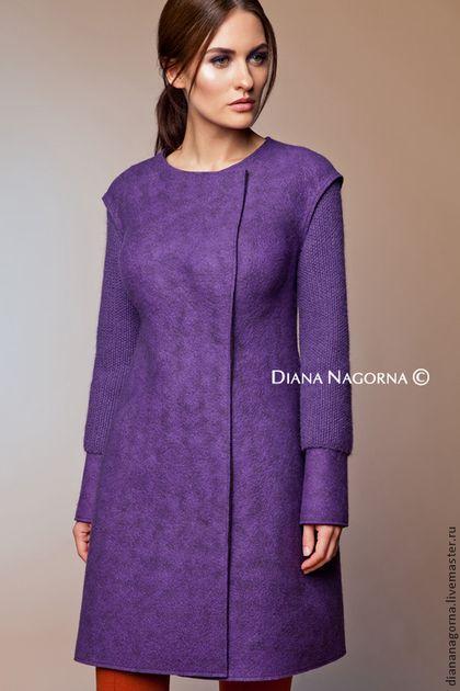 """Верхняя одежда ручной работы. Ярмарка Мастеров - ручная работа. Купить Пальто из мериносовой шерсти """"Lilac """". Handmade. Сиреневый"""