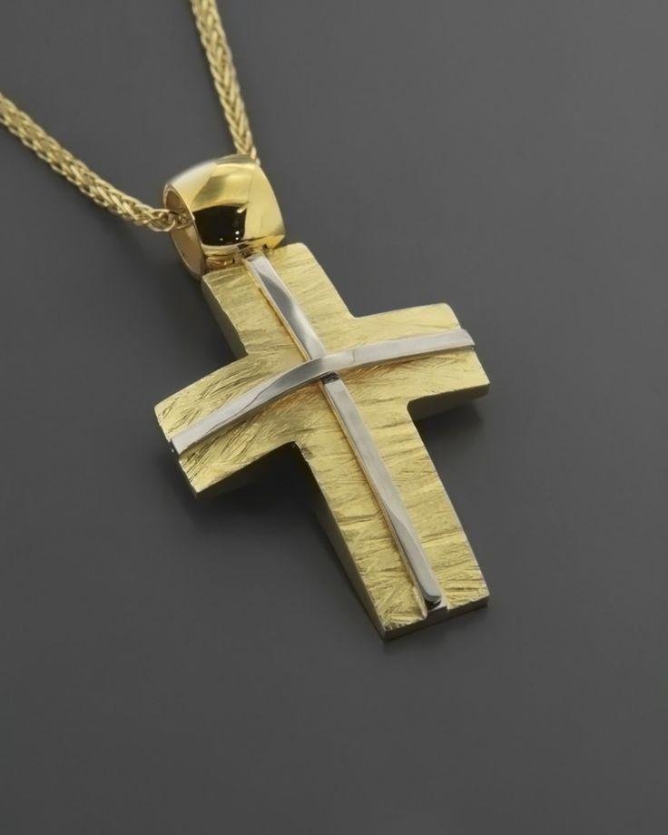 Σταυρός χρυσός & λευκόχρυσος Κ14 | eleftheriouonline.gr