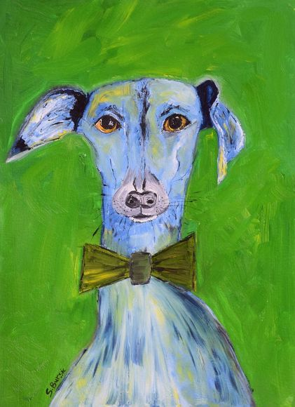 Dog's Life Oil Painting - Blue Dog