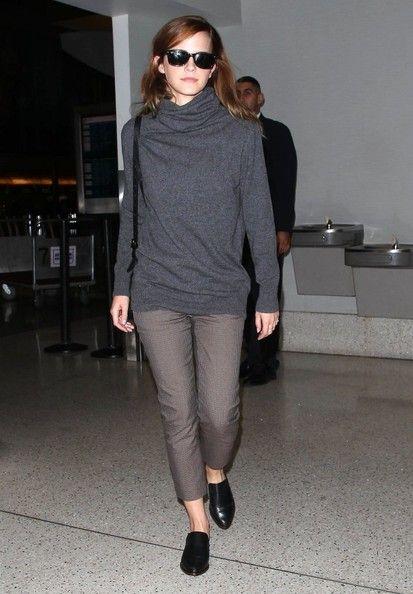 Emma Watson Photos: Emma Watson Departing On A Flight At LAX