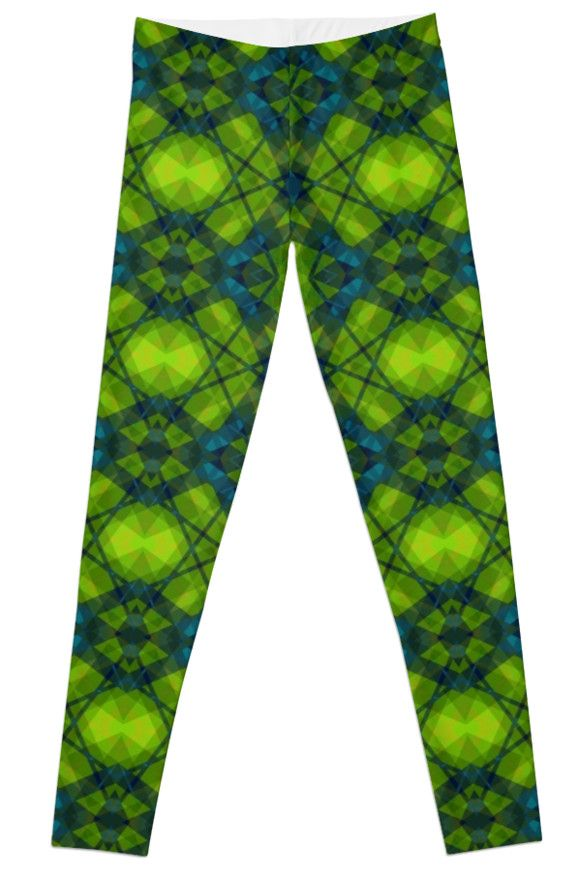 Kaleidoscope Green by scardesign11 #leggings #yoga #yogaleggings #modernleggings #buyleggings #Leggings #fashion #women #greenleggings #giftsforher #gifts #giftsforteens #womengifts #running #runningclothes #gym #gymclothes #gymleggings