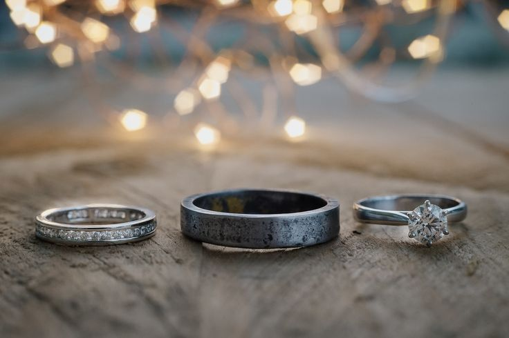 This hand forged industrial wedding ring for him is pretty unique