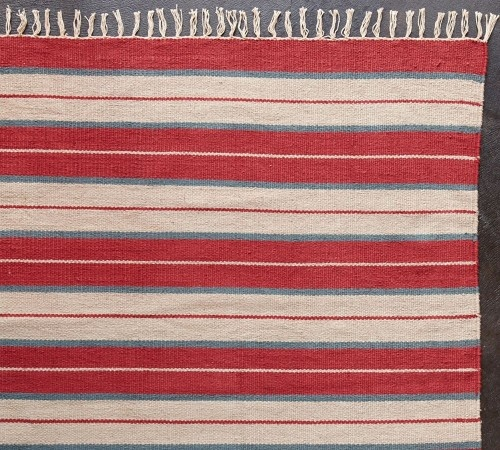 traditional rugs July Stripe Cotton Dhurrie Rug  July Stripe Cotton Dhurrie Rug - $15.00 »