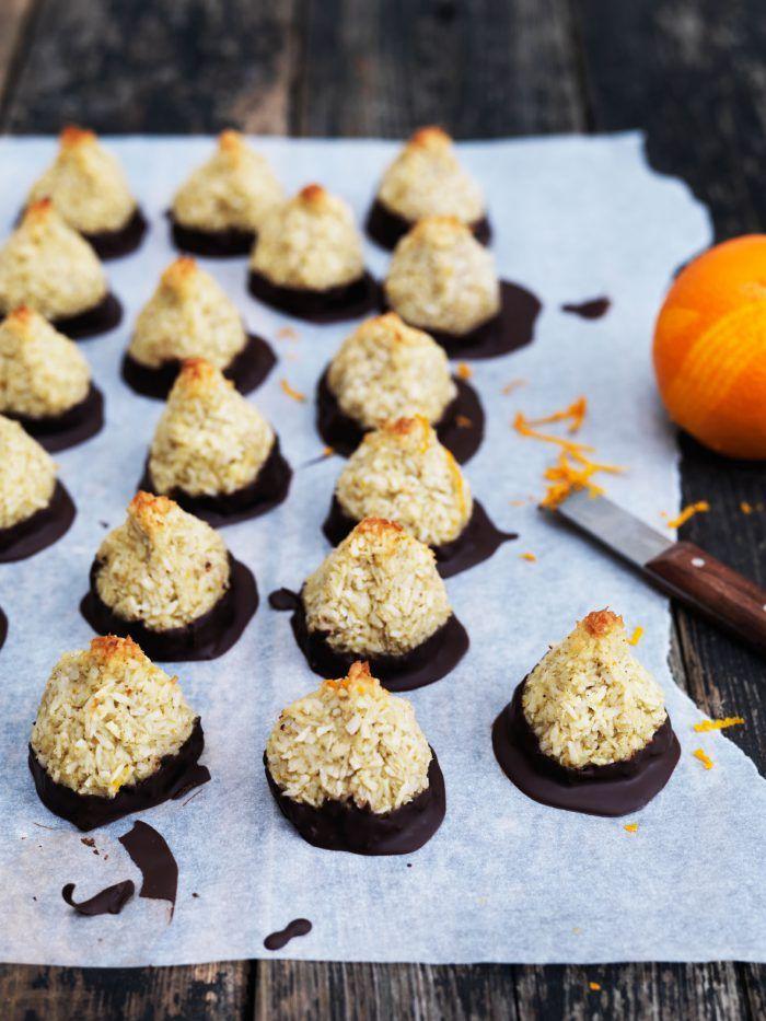 Kokostoppe med appelsin og chokolade - lækker sukkerfri opskrift på kokostoppe
