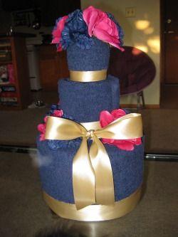 Towel cake for wedding showers