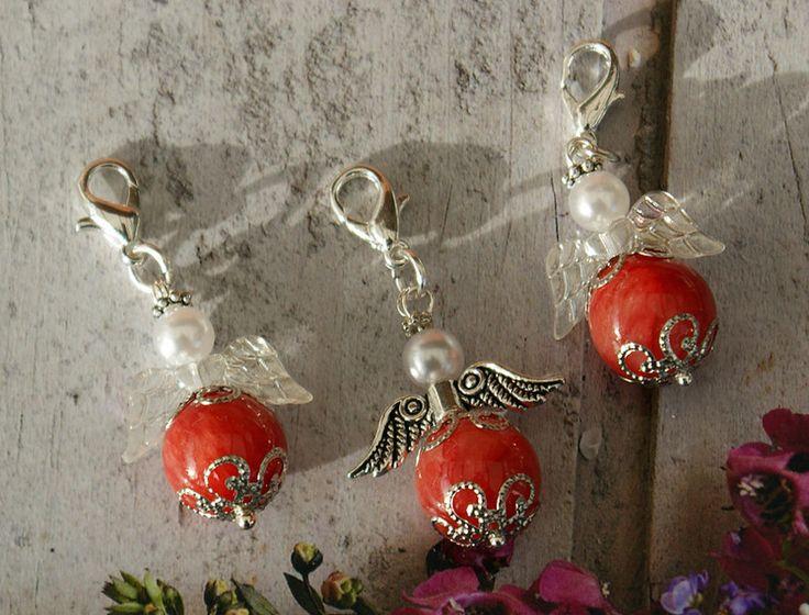 Schutzengel Anhänger - 3 Glücksbringer Schutzengel Charm Anhänger  - ein Designerstück von Heikes-Kreativ-Stuebchen bei DaWanda
