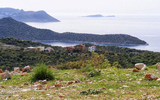 Coastline East of Kaş, Turkey, from the mountain road above the town.  #Kaş #Turkey #roadtrip