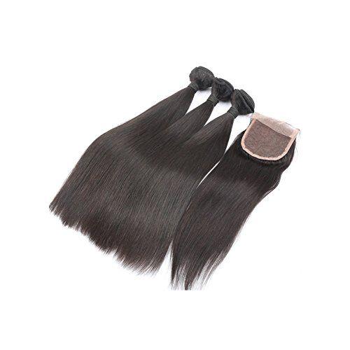 Moresoo 3 Tressen 16 zoll Glatt Brasilianisch Virgin Haare Extensions Weave und 1pc 10 zoll Lace Closure (4*4 zoll) fur die Herstellung von Perucken Moresoo http://www.amazon.de/dp/B00UV60H5Q/ref=cm_sw_r_pi_dp_xjT9vb0AX55R5