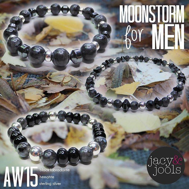 AW men's collection #Moonstorm  #blacklabradorite #sterlingsilver #hematite…