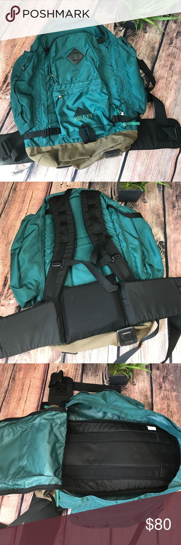 Vintage Canvas Kelty Backpack Pack hiking Vintage Canvas Kelty Redwing / Horizon 50 Liter Internal Frame Backpack. Large main zippered pocket, and 4 additional zippered pockets. Adjustable straps. Kelty Bags