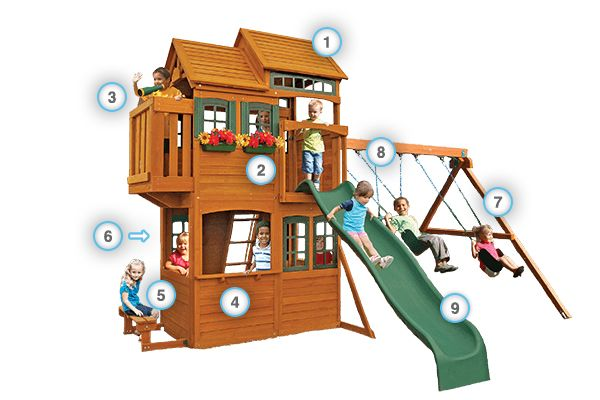 Somerset Lodge - Products | Big Backyard Play Set