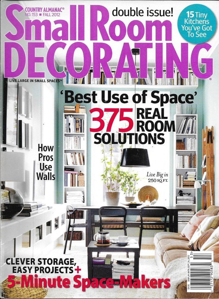 Small Room Decorating magazine Clever storage Easy projects ...