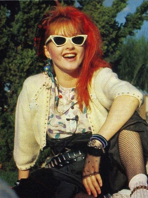 Cyndi Lauper opshop fashion 90s Ray Ban, www.rb-sun.ru                                                                                                                                                                                 More