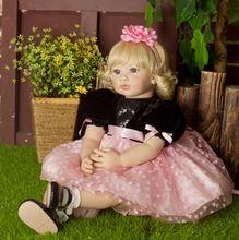"""Törekedni 22"""" / 56 cm Kiváló minőségű Princess Reborn babák baba szilikon Reborn Baba Dolls lány karácsonyi ajándék Lefekvés Játszóház Toy (Kína (szárazföld))"""