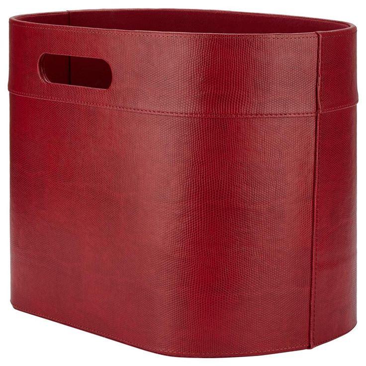 Porte revues en simili cuir paniers et rangement d co for Meuble bouclair