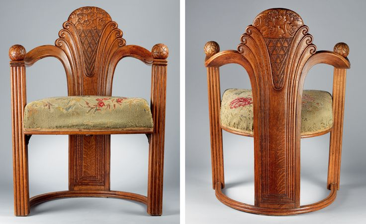 Otto Prutscher: Art Nouveau, Wiener, Prutscher Chairs, Furniture, Fabulous Chairs, Cc Art Deco, Oak Armchairs, Prutscher 1880 1949, Otto Prutscher