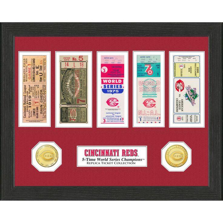 "Cincinnati Reds Highland Mint 13"" x 13"" World Series Ticket Collection"