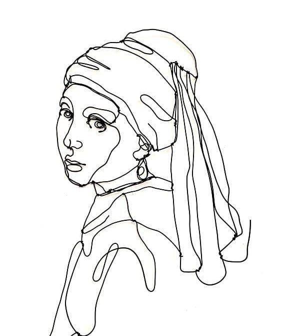 Enlace Desempacando Río arriba  Enigmática y realista, para muchos suele ser la Mona Lisa holandesa por la  similitud que existe entre ambas. La jo… | Producción artística, Dibujos  abstractos, Arte