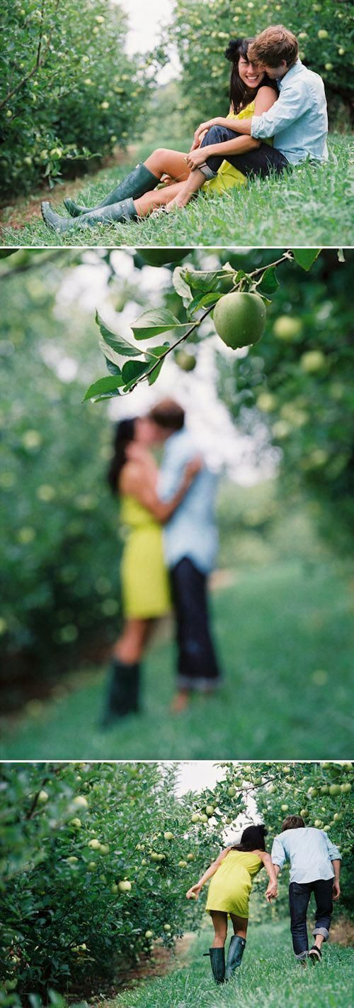 Love Session Photos bij Carter Mountain Orchard –
