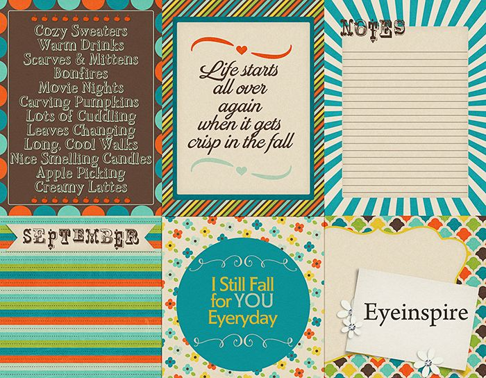 Free September Project Life Cards | [ One Velvet Morning ]