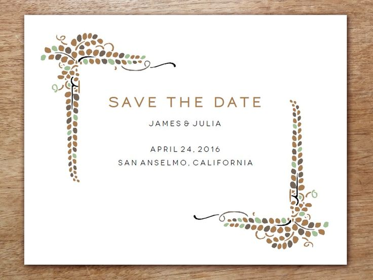 Save The Date Templates Free Download | The 25 Best Save The Date Templates Ideas On Pinterest Save The