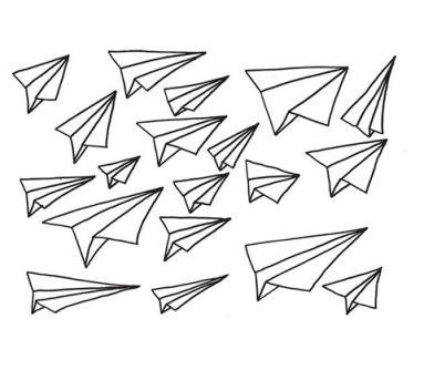 Chispum wallsticker planes black | Rewind ecodesign