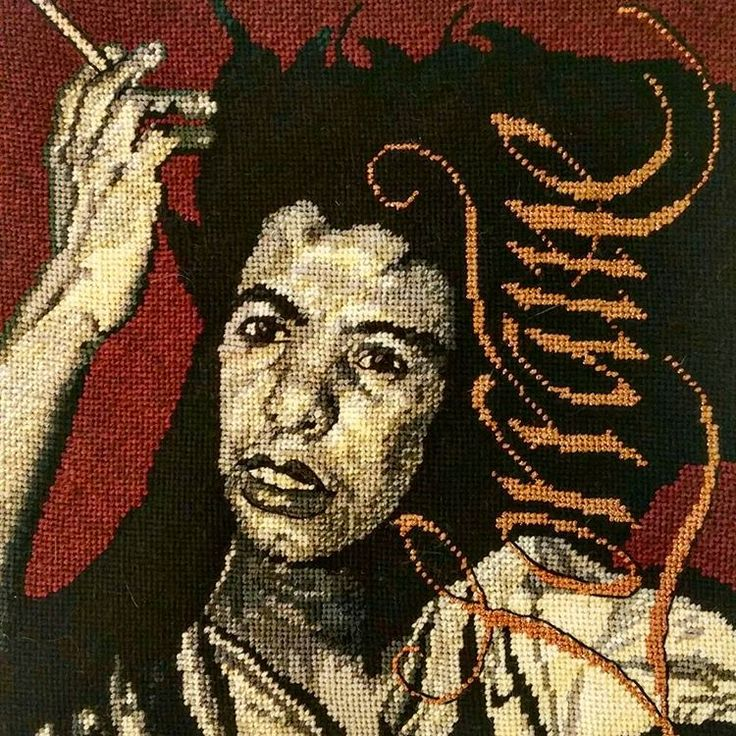 """As I continue to get ready for my upcoming Jazz and Civil Rights exhibition in March at the Theatrical Outfit in ATL, I have completed a Lorraine Hansberry portrait. Lorraine inspired Nina Simone to write the song """"To Be Young, Gifted and Black"""". She wrote the play """"A Rasin in the Sun"""", a play about racial segregation in Chicago. The title of the play was taken from the Langston Huges poem, """"Harlem"""". She died at age 35. #lorrainehansberry #ninasimone #tobeyounggiftedandblack #harlem #love"""