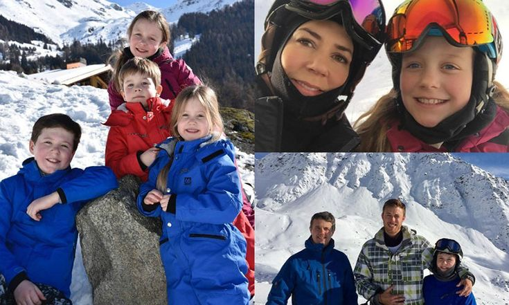 Inside the Danish royal family's ski holiday in Switzerland