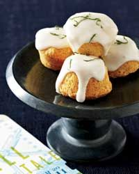 """Almond, Elderflower and Lime Travel Cakes 