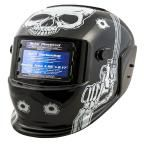 Auto Darkening Welding Helmet with Skull and Pistols Design