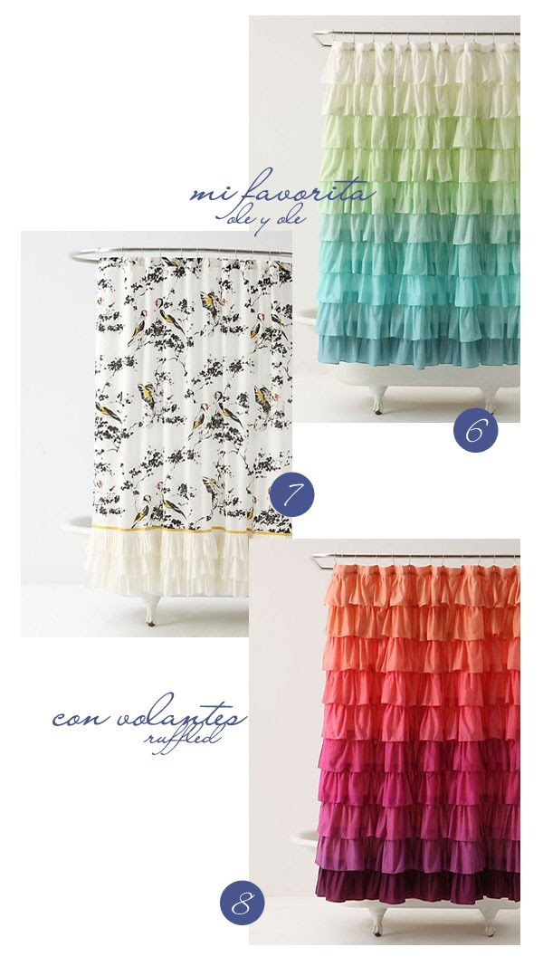 VINTAGE & CHIC: decoración vintage para tu casa · vintage home decor: 16 cortinas de baño / ducha realmente bonitas · 16 beautiful shower / bathroom curtains