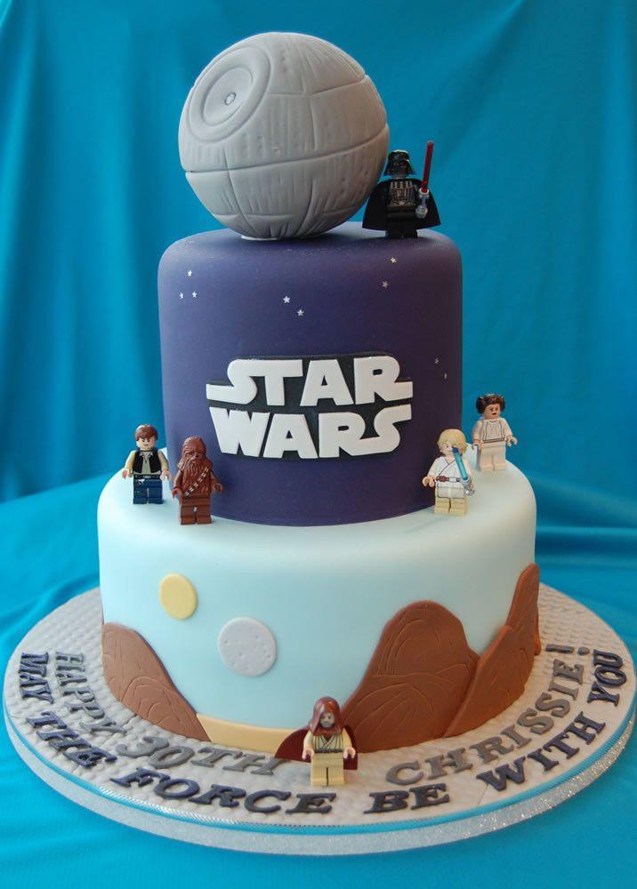 about Star Wars Birthday Cake on Pinterest | Star wars cake, Star wars ...