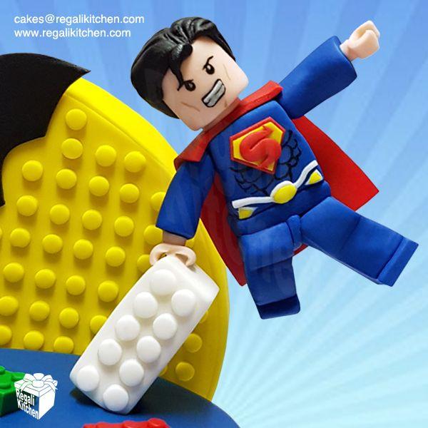 Lego Superman Cake Topper | Lego Justice League Cake | Geeky Lego JLA Cake | Superheroes Cake | Cakes by The Regali Kitchen