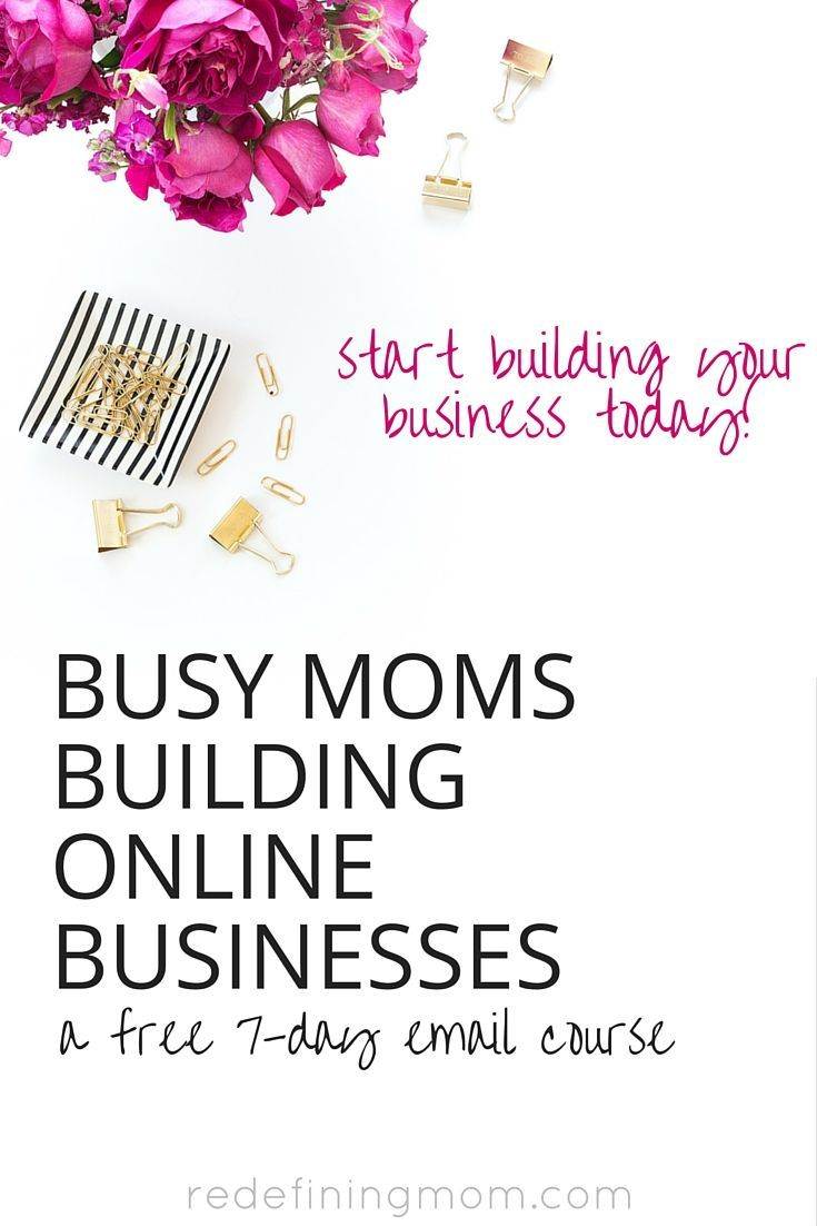 Busy Moms Building Online Businesses: a free 7-day email course from a working mom who quit corporate america to pursue the entrepreneurial life of blogging and building an online business. This course teaches you how to tackle taxes and financial systems in an easy to understand way. Define the type of business you want to start & how to find the time to build it all while working and taking care of your family!