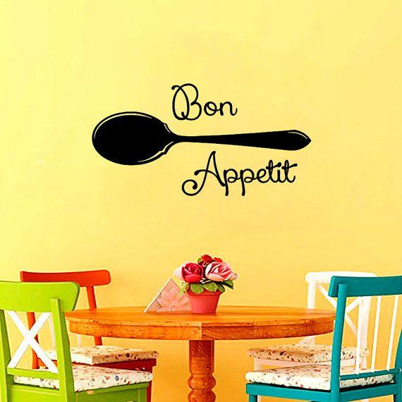 12 best bon appetit decal images on Pinterest   Bon appetit, Wall ...