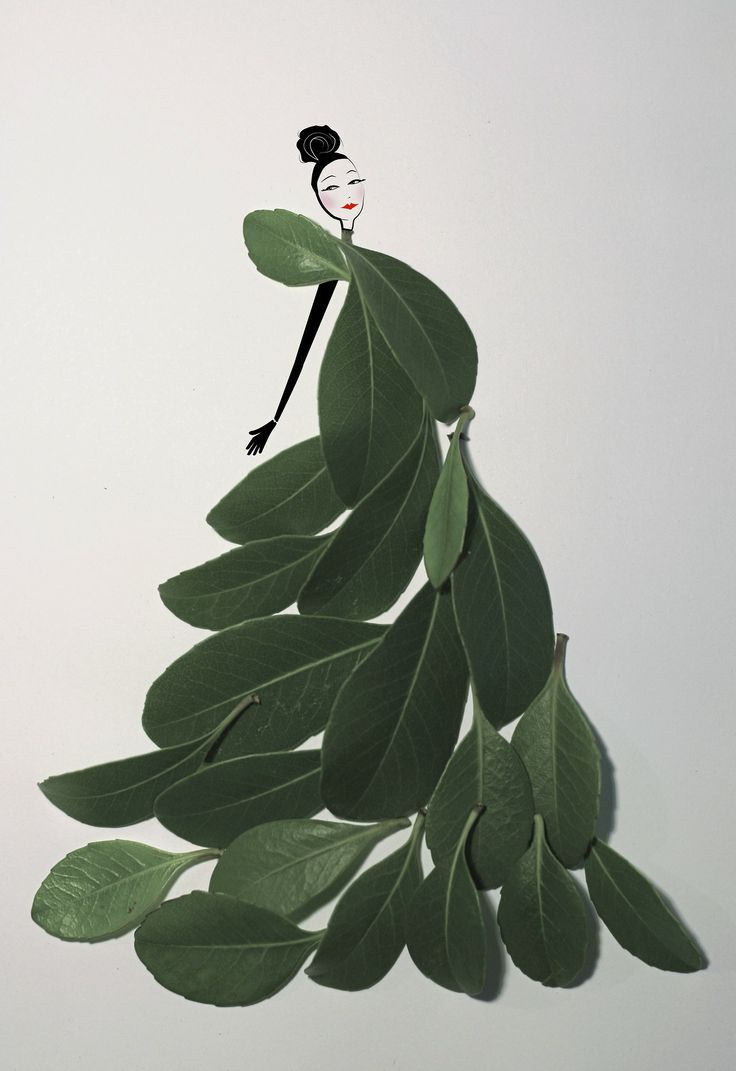 """byjsc: Inspired by Tang Chiew Ling's beautiful """"Fashion in Leaf"""" idea so I decided to try my hand at it! And instead of using ink, I worked..."""
