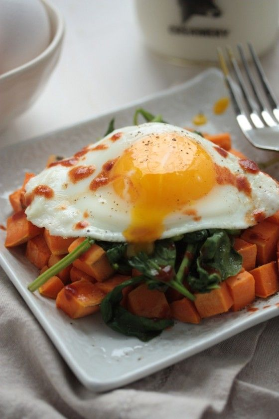 Easy & Healthy Sweet Potato Spinach Breakfast Hash ...