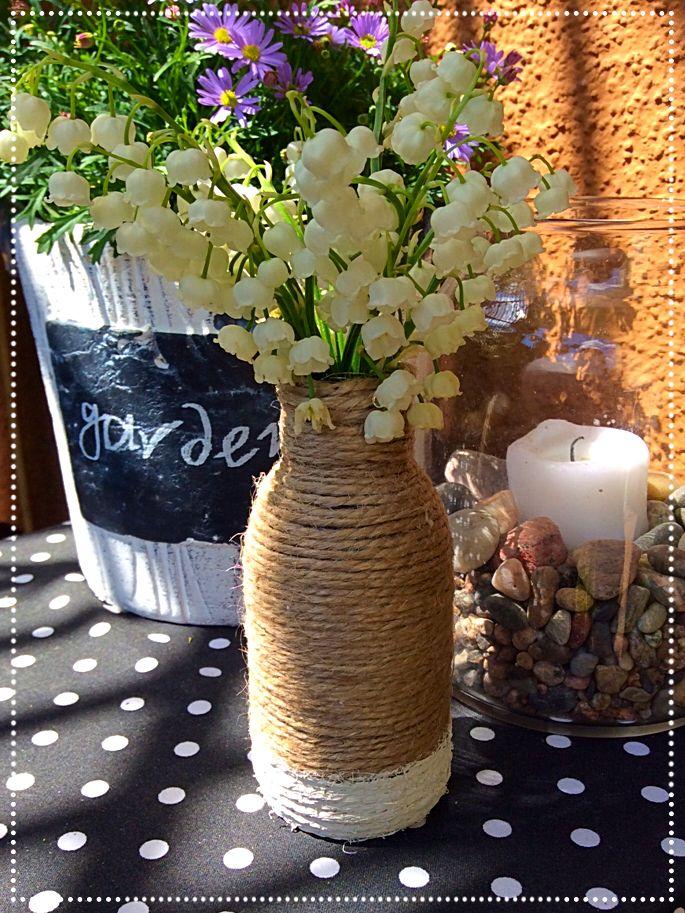 D.I.Y - garden decorations, jute vase by DwaGuziki