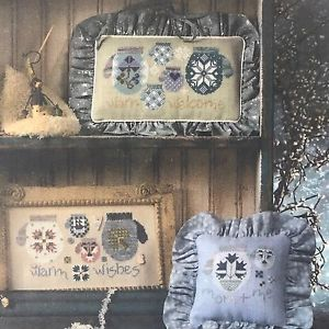 Snowflake Family Mittens Cross Stitch Chart Pattern by Cricket Collection No 226    eBay