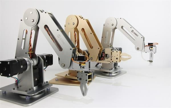 Dobot: Arduino powered desktop robotic arm capable of 3D printing with plastic & food-based filaments