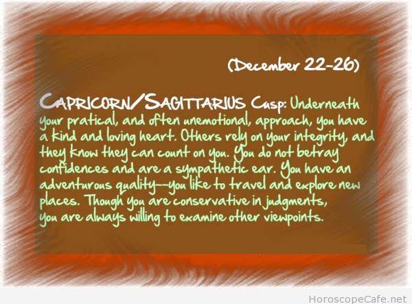 Capricorn Sagittarius cusp