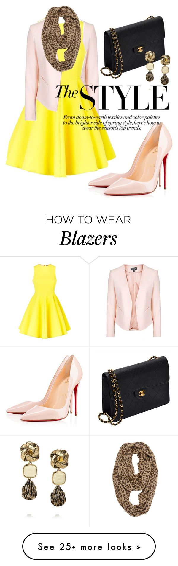 """""""sate kambing#indonesia"""" by omahtawon on Polyvore featuring Topshop, AQ/AQ, Chanel, Tolani, Christian Louboutin and Oscar de la Renta"""
