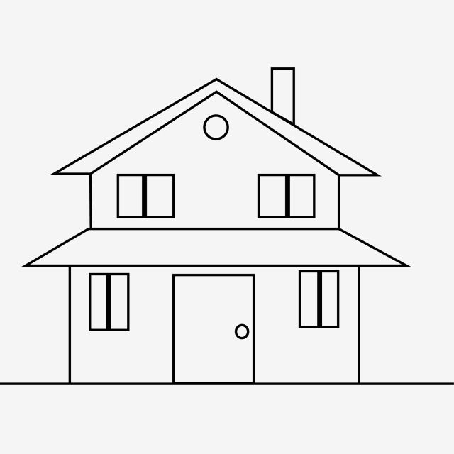 Simple Black Line House Stick Figure Simple Black Lines Houses Png And Vector With Transparent Background For Free Download House Drawing For Kids Simple House Drawing Stick Figures
